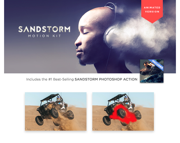 SandStorm Photoshop Action - 1